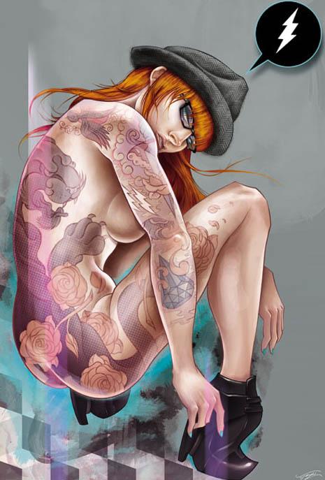 Tyson McAdoo ink sexy tattooed girls