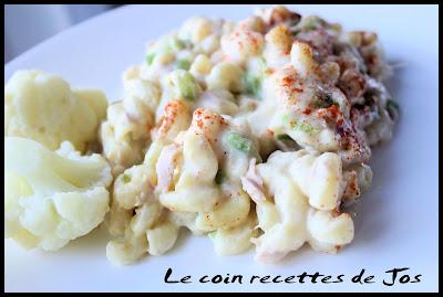 recettes  Macaroni aux aubergines