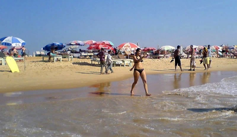 private beaches in goa. Bikini on Beach of Goa