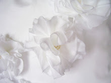 White Linen Fabric Flowers