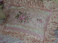Romantic Barkcloth Pillow