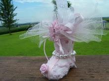 Pink Bootie Ornie