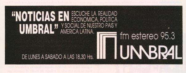 ''NOTICIAS EN UMBRAL'' , 13 DE NOVIEMBRE DE 1989