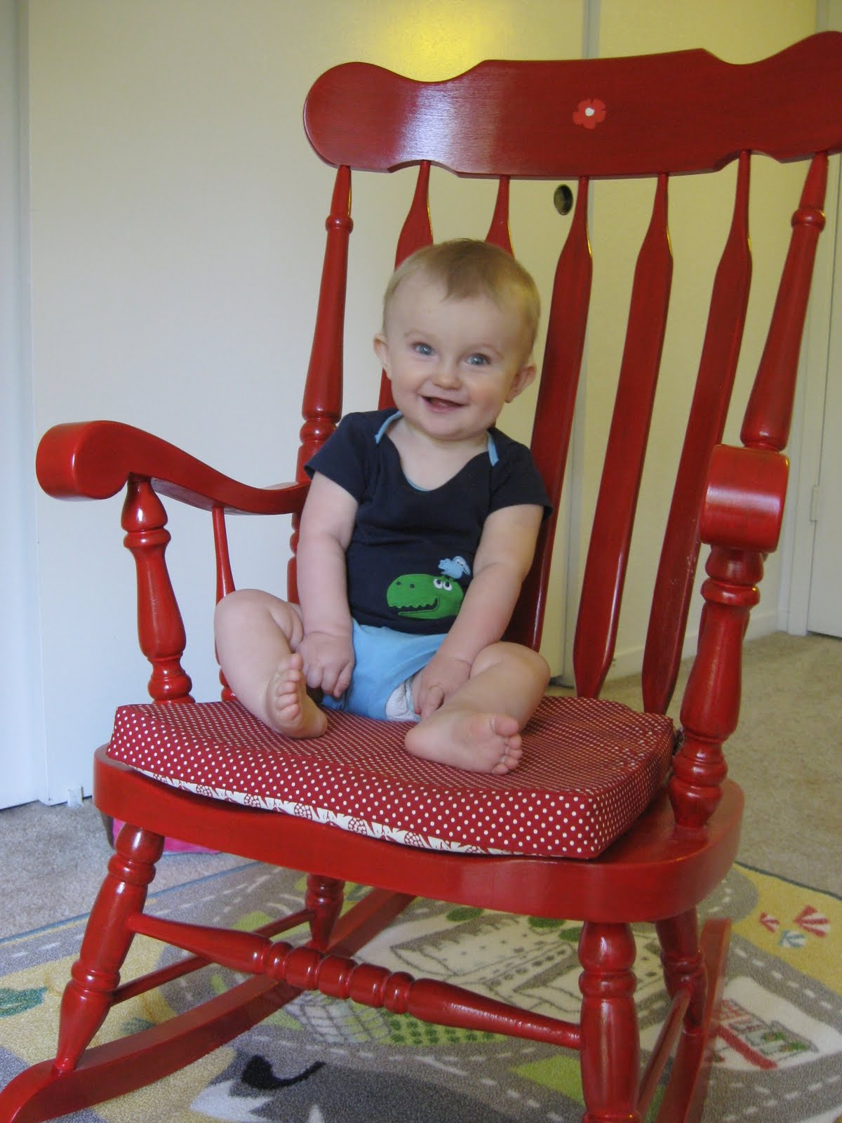 Little Red Rocking Chair ~ A little donnerwetter red rocking chair