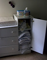 cloth diapering set-up