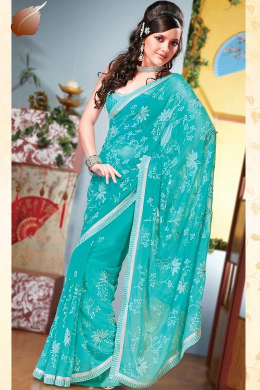 Latest Fashion Sari Styles