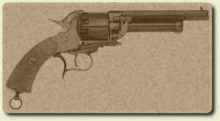 Zebulon Pike's LeMat Revolver. It features nine .44 caliber rounds in the cylinder and a single shot 16-gauge shotgun under the primary barrel.