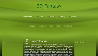 Plantilla Z-Graphics: 3D Fantasy