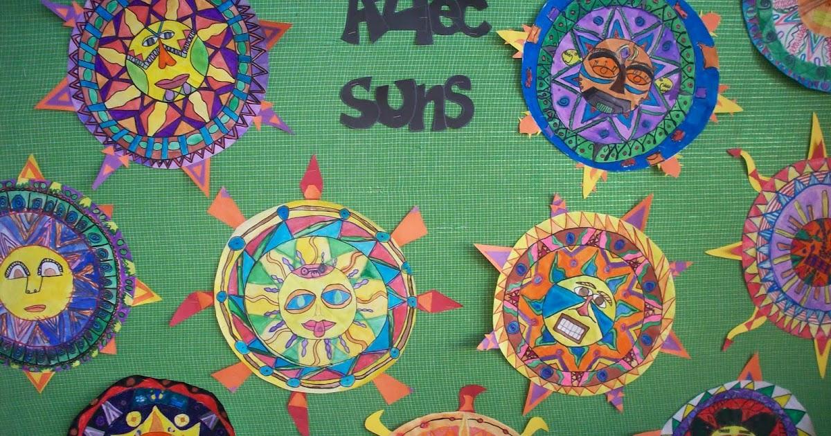 Aztec Calendar Art Lesson : The elementary art room aztece sun stones