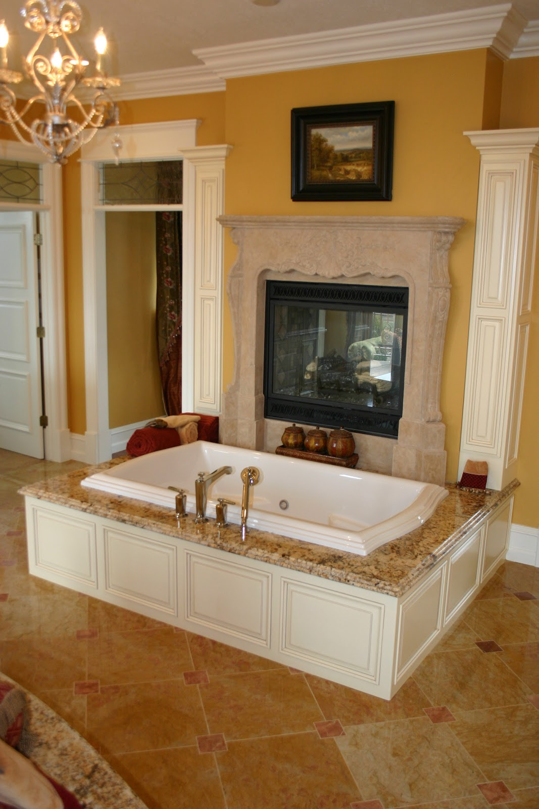 The granite gurus beautiful master bathroom with golden for Beautiful master bedrooms and bathrooms