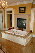 Beautiful Master Bathroom with Fireplace