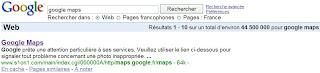 recherche google maps dans google