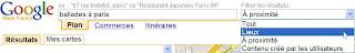 google maps nouveaux filtres de recherche