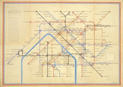 Carte du métro parisien par Harry Beck