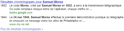 Rsultats chronologiques dans Google