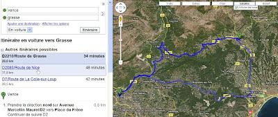 Suggestions d'itinéraires dans Google Maps