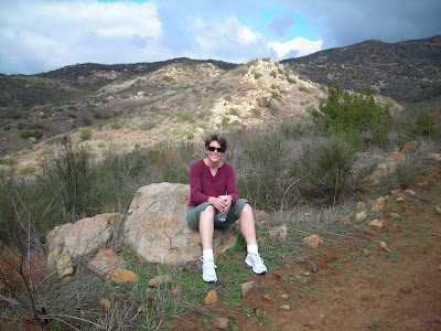 Jolanda hiking in the hills near San Diego