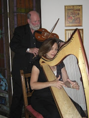 """Harp and vielle are featured in the duo """"Everyman"""""""