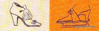 Женские туфли XVII век