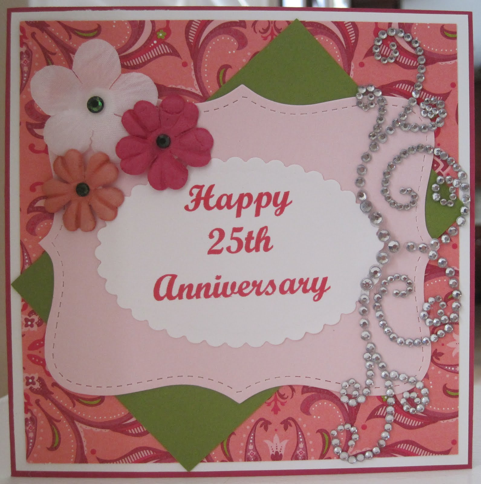 Ready ink stamp 25th anniversary card 25th anniversary card m4hsunfo