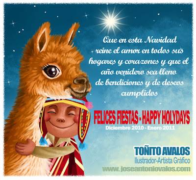 To ito avalos ilustrador diciembre 2010 - Tarjeta navidad original ...
