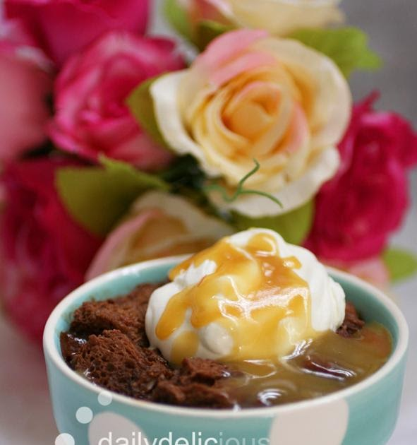 dailydelicious: BITTERSWEET CHOCOLATE BREAD PUDDING WITH ...