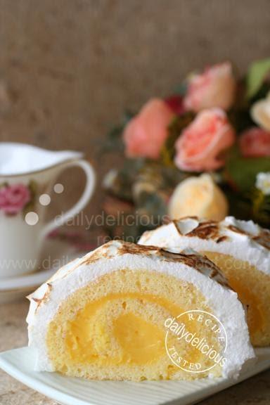 Passion Fruit Meringue Cake Recipe