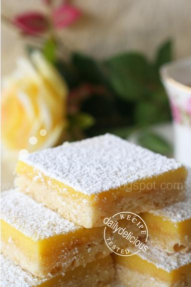 dailydelicious: Lemon Squares: My portable lemon pie...