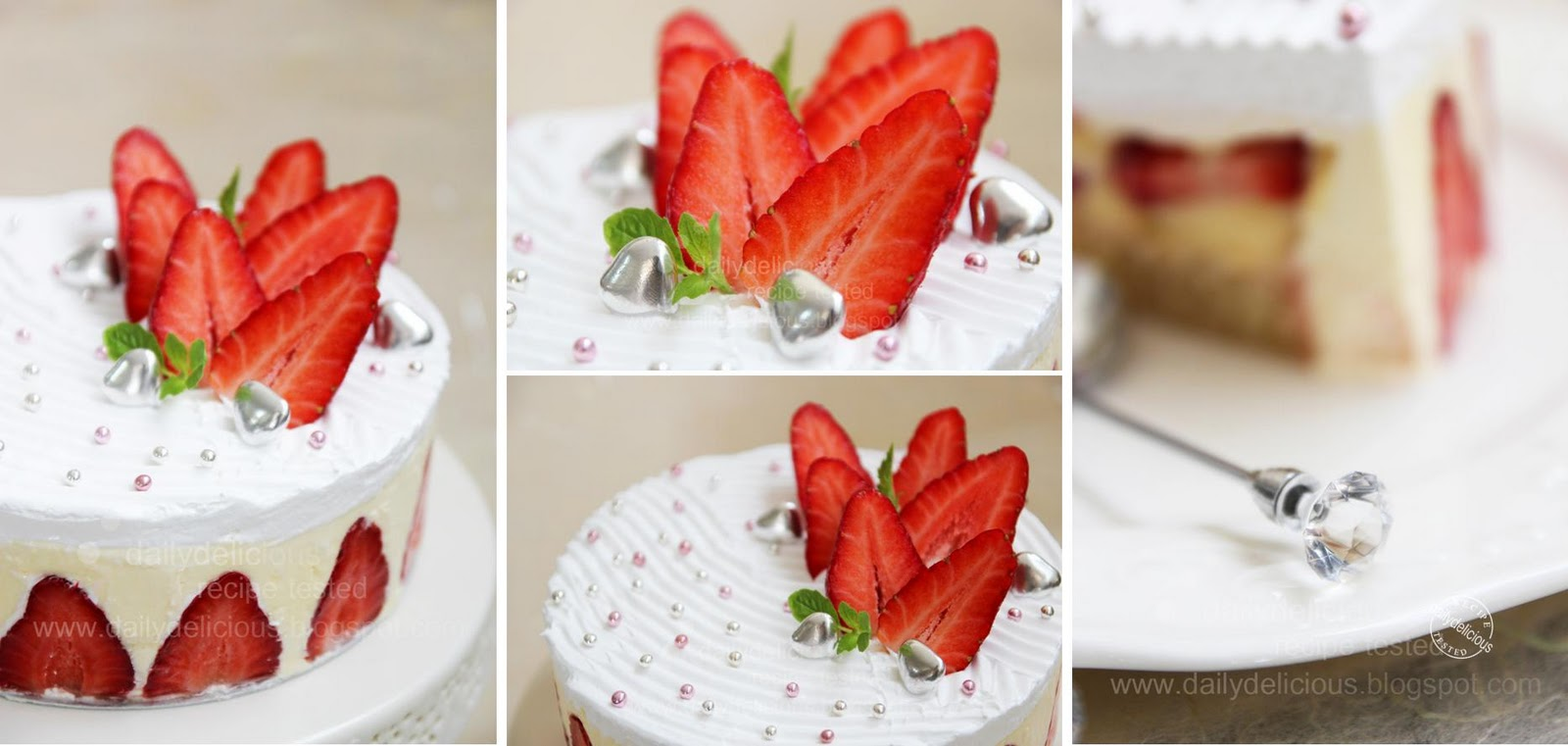 Dailydelicious Fraisier Beautiful French Strawberry Cake
