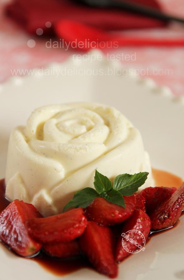 White chocolate semifreddo with Strawberry Balsamic sauce: Sweet idea ...