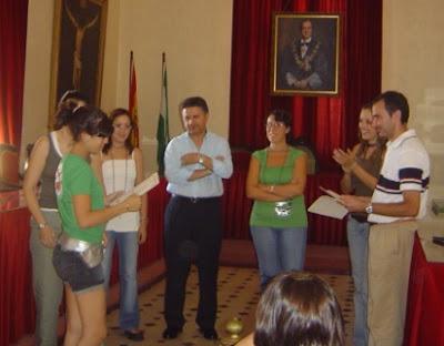 Momento de la entrega de diplomas