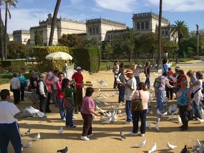 El grupo en el Parque de Mª Luisa