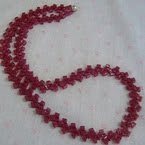Talking Beads Raspberry Necklace