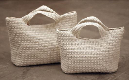 estas bolsitas de crochet son muy sencillas de realizar pocos puntos
