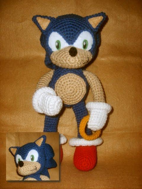 Amigurumi Mario Patron : Blog de Goanna: Patron de Sonic en Amigurumi