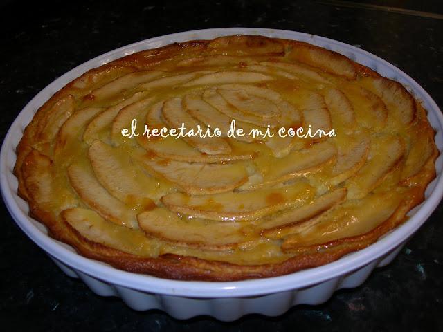tarta de manzana sin base
