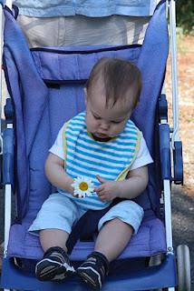 Mason holding a daisy