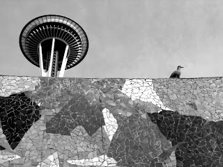 Space Needle Black & White