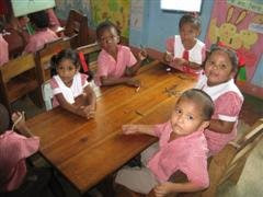Children in Mabaruma Nursery School