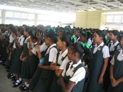 Assembly in Region Two Secondary School
