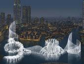 Fuentes luminosas de Dubai