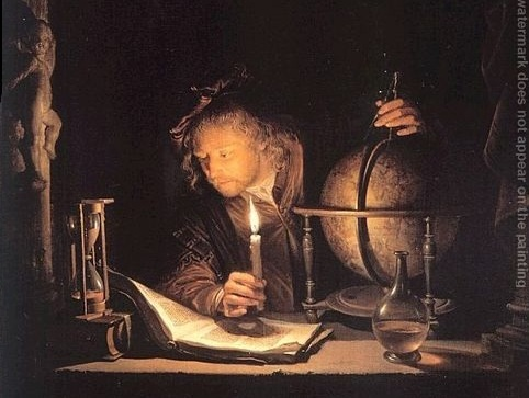 Astronomer By Candlelight. the quot;Astronomer by Candle