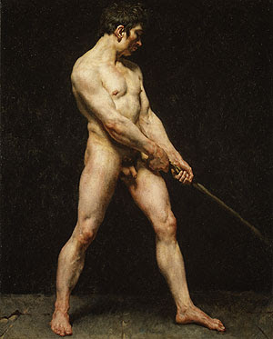 Study of a Nude Man. French Painter,Unknown.+c.+1816