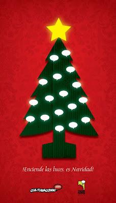 Tarjeta Navidad Cultura Cómic 2