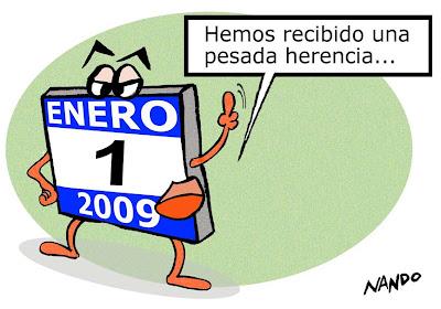 Viñeta: 2009, empieza un año político (por NAndo)