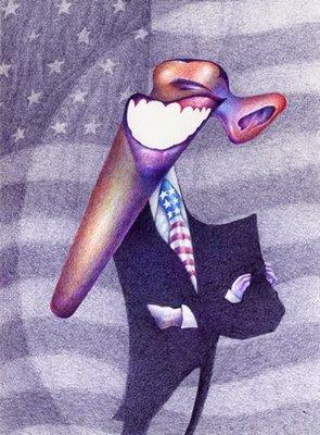 Caricatura de Barack Obama por Turcios
