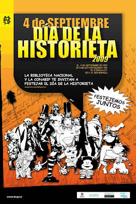 Afiche del Da de la historieta argentina - 2009