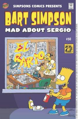 Sergio Aragonés en la Revista de Bart Simpson