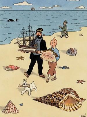 Tintin et les coquillages (Tintín y las caracolas)