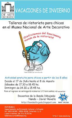 Banda Dibujada llega con sus Talleres de Historieta al Museo Nacional de Arte Decorativo